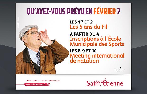 Création de la campagne de communication de la Ville de Saint-Etienne