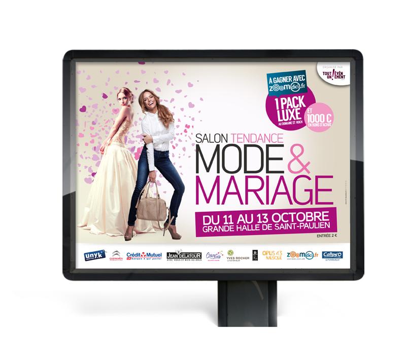 Création de la campagne Mode & Mariage au Puy en Velay
