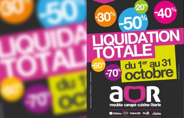 Création de la campagne de communication de la liquidation AOR