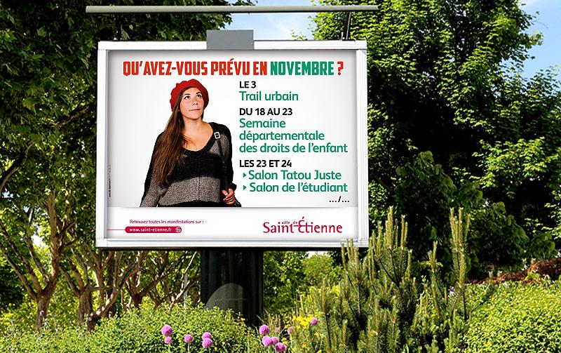 Création de la campagne de la Ville de Saint Etienne
