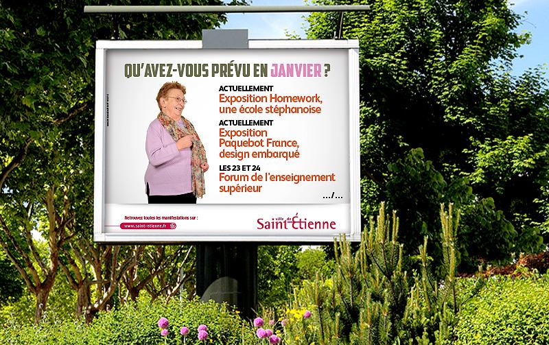 Campagne de communication Agenda de la Ville de Saint-Etienne (Janvier 2014)