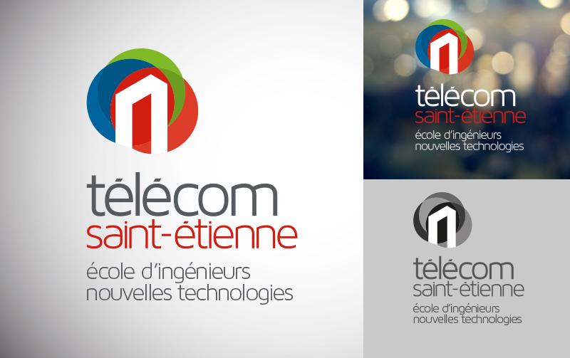 Création de la nouvelle identité visuelle de Télécom Saint-Etienne