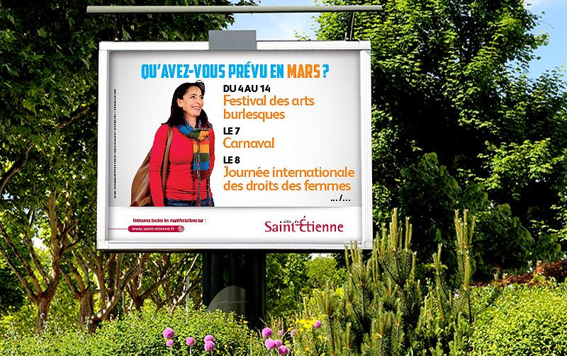 Campagne de communication Agenda de la Ville de Saint-Etienne (Mars 2014)