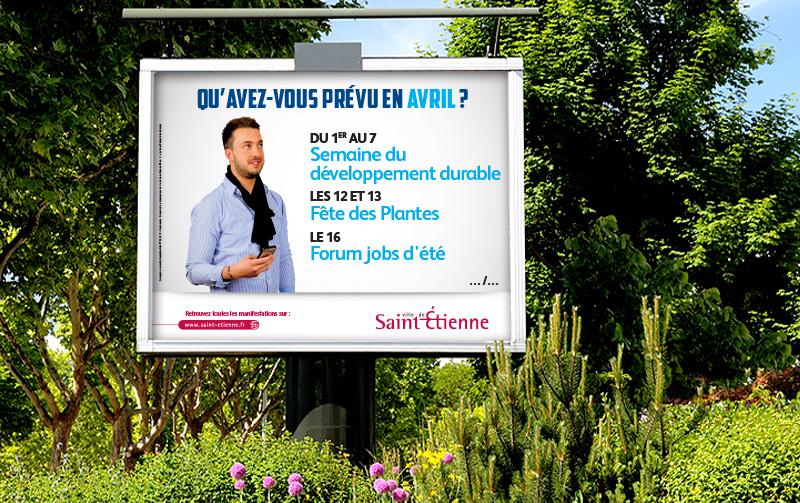 Campagne de communication Agenda de la Ville de Saint-Etienne (Avril 2014)
