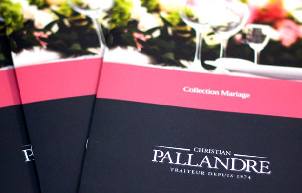 Création de la plaquette mariage Pallandre Traiteur