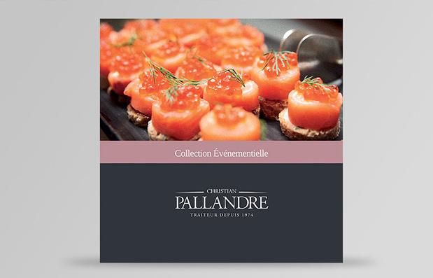 Création de la brochure événementielle Pallandre Traiteur
