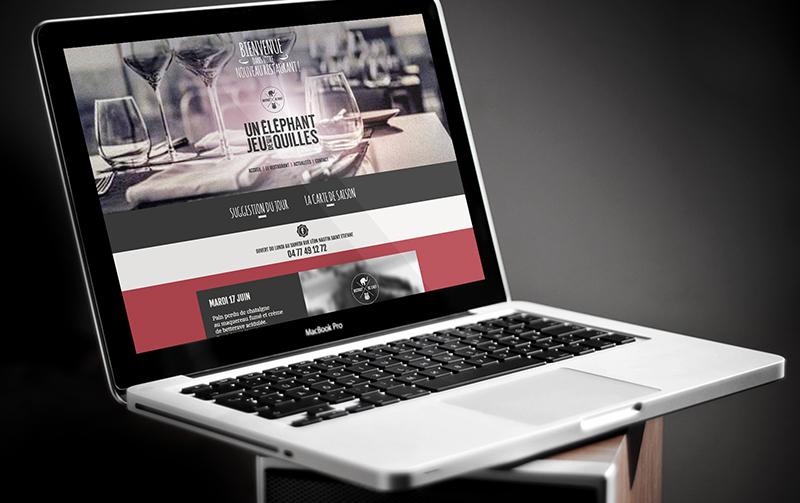 Création du site internet du restaurant Un éléphant dans Un Jeu de Quilles.