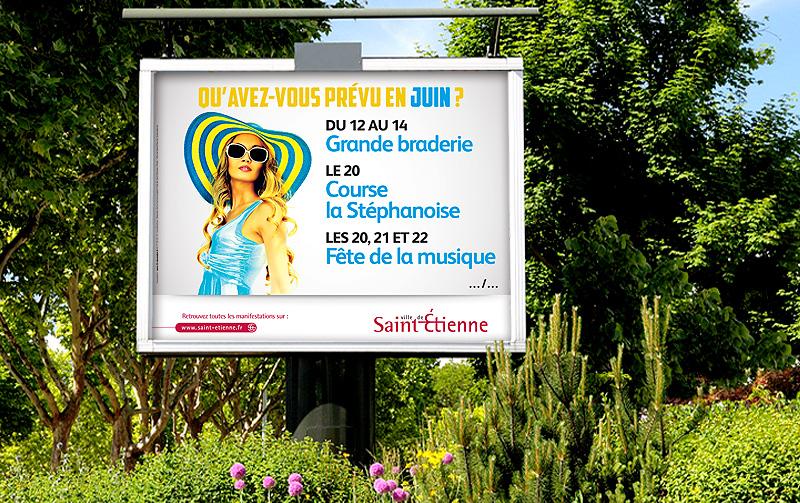 Campagne de communication Agenda de la Ville de Saint-Etienne (Juin 2014)