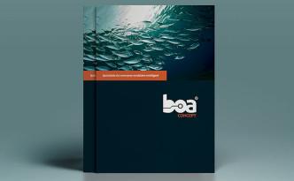 Création de la plaquette Boa Concept