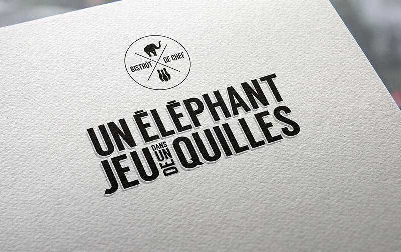 Création de la nouvelle identité print et web d'un nouveau restaurant à Saint-Etienne