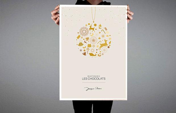 Création de la brochure Chocolat 2014 des Cafés Chapuis.