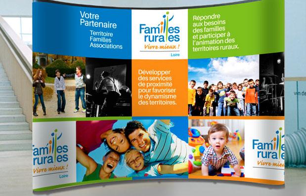 Création du stand Familles Rurales 42
