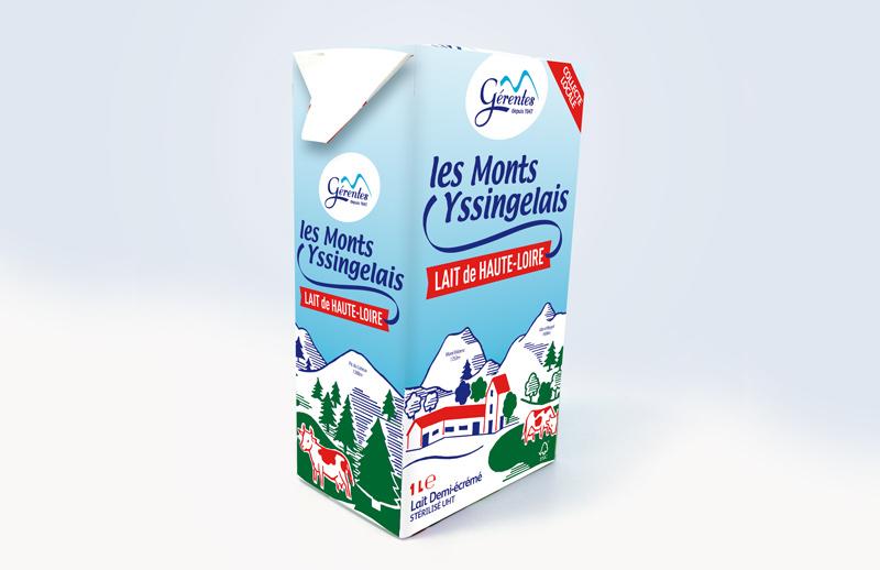 Création du packaging des Laiteries Gérentes en Haute-Loire