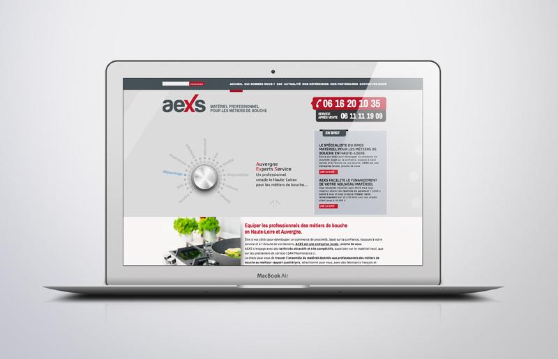 Création du site internet Aexs