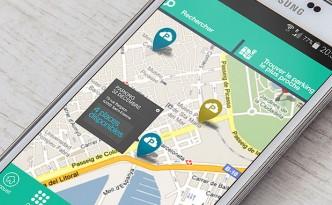 Création du site internet et de l'application mobile Copark.