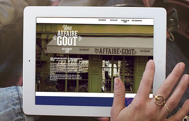 """Création du site internet """"Une Affaire de Goût"""", nouveau restaurant à Lyon."""