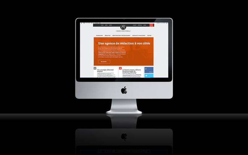 Création du site internet de l'Agence Rédactionnelle