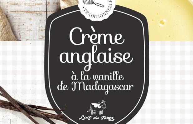 Création du packaging Crème Anglaise pour la Laiterie du Forez