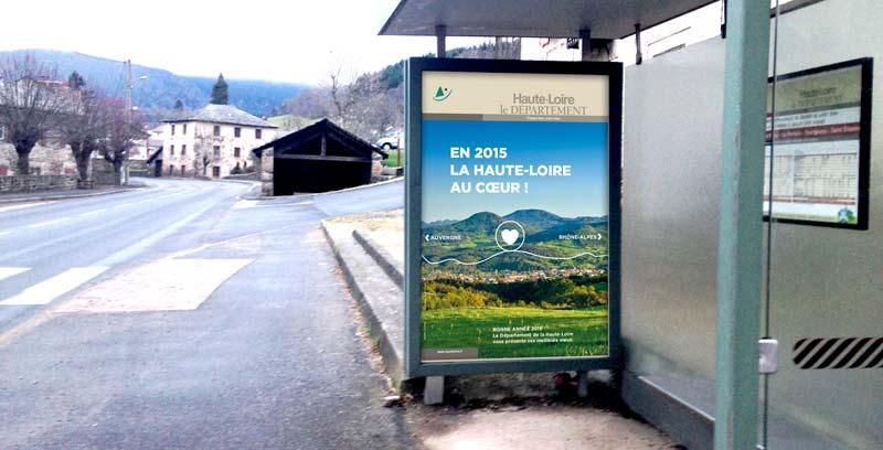 Création de la campagne abribus du Département de la Haute-Loire