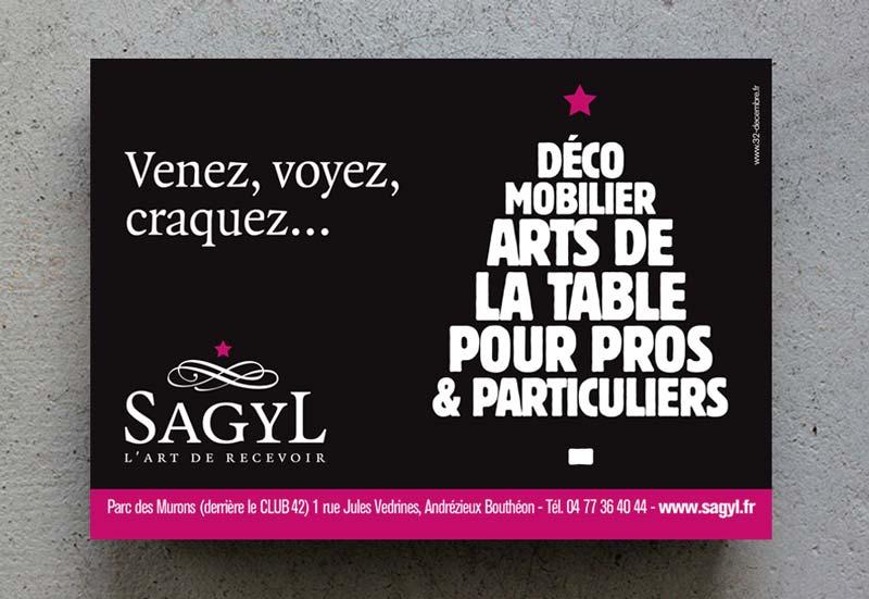 Création d'annonce presse pour la société Sagyl