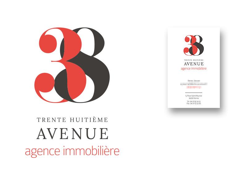 Création de logo agence immobilière Vienne 38