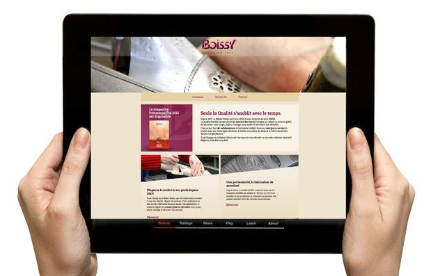 Création du site internet de la Maison Boissy