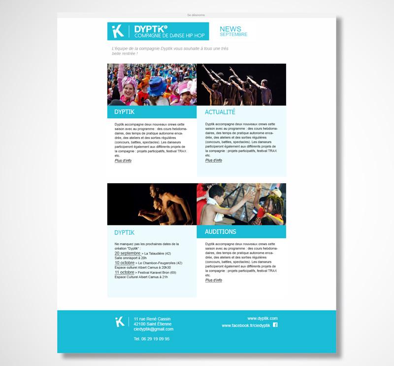 Création de supports pour la compagnie de danse Dyptik.