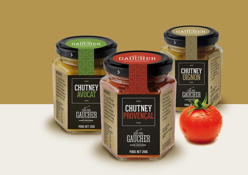 Création d'une nouvelle gamme packaging pour Jean-Paul Gaucher