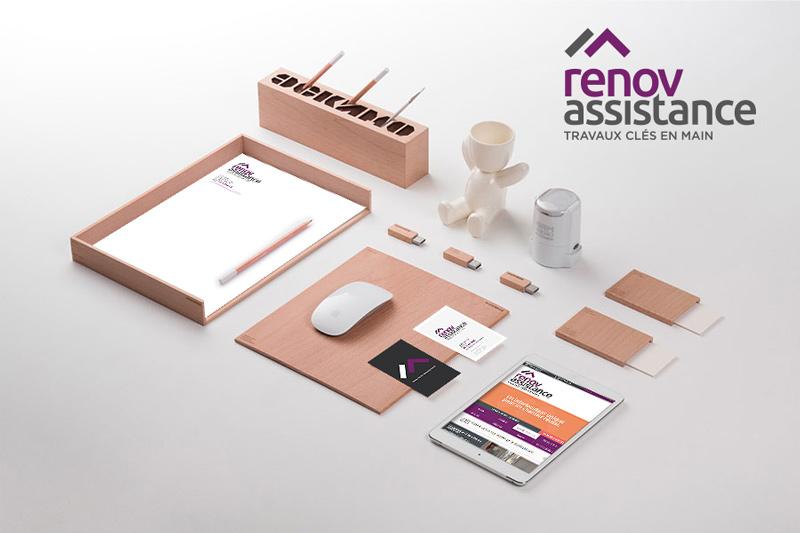 Création des supports de communication print de Rénov'Assistance.