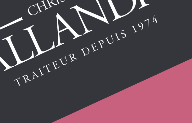 Création de la marque Christian Pallandre Traiteur