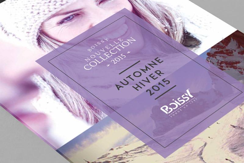 Création du catalogue Boissy Chaussures Automne Hiver 2015.