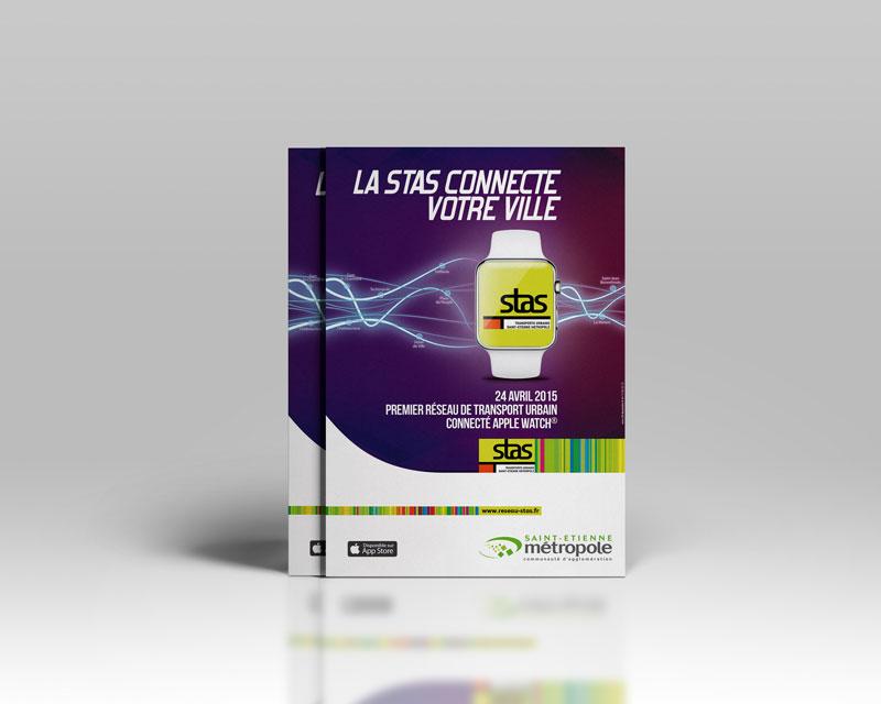 La Stas connecte la ville de Saint-Etienne avec l'Apple Watch®