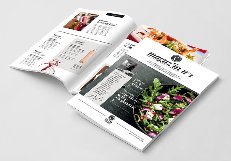 Création du magazine des cours de cuisine de Cuiz'In sur Cours