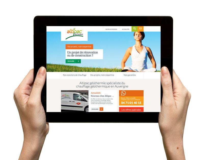 Refonte du site internet Altipac Géothermie en Haute-Loire