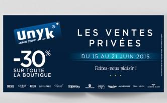 Campagne de marketing direct pour les Ventes Privées d'été pour Unyk.