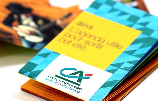 Nouveau travail de création pour le Crédit Agricole Loire Haute-Loire.