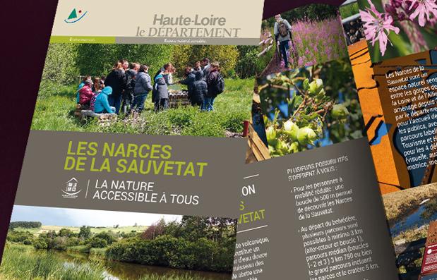 Création du document de promotion des Narces de la Sauvetat.