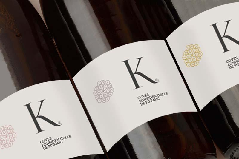 """Création de la gamme packaging de la collection de vin """"K"""""""