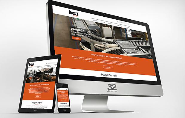 Création du nouveau site internet Boa Concept.