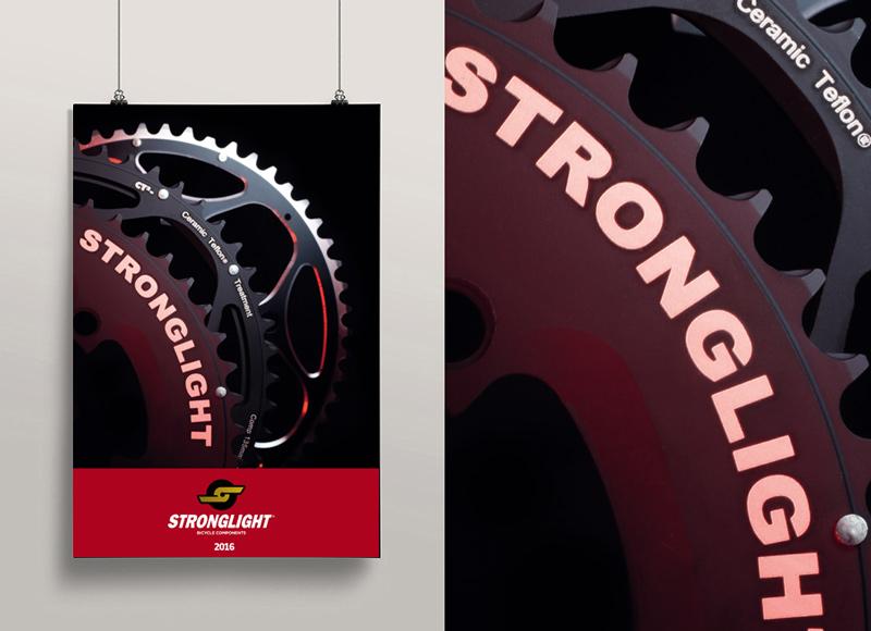 Création du nouveau catalogue Stronglight 2016.
