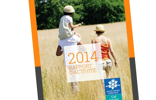Création du rapport d'Activité 2014 de la Caisse d'Allocations Familiales de la Loire