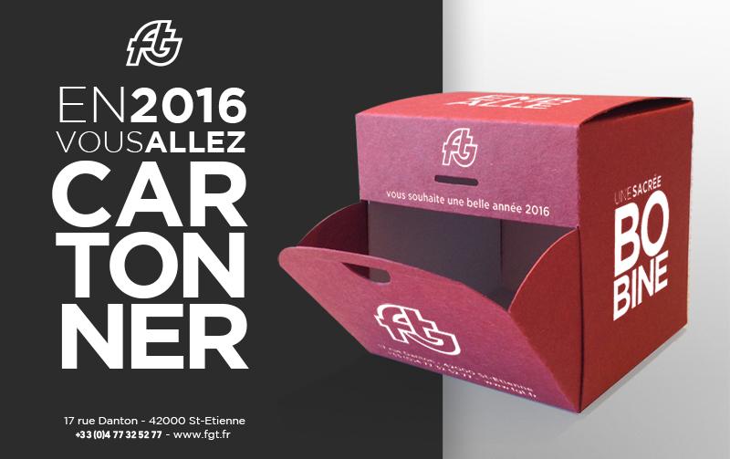 Préférence Création de carte de vœux originale pour FGT Cartonnage. - 32 Décembre KH91