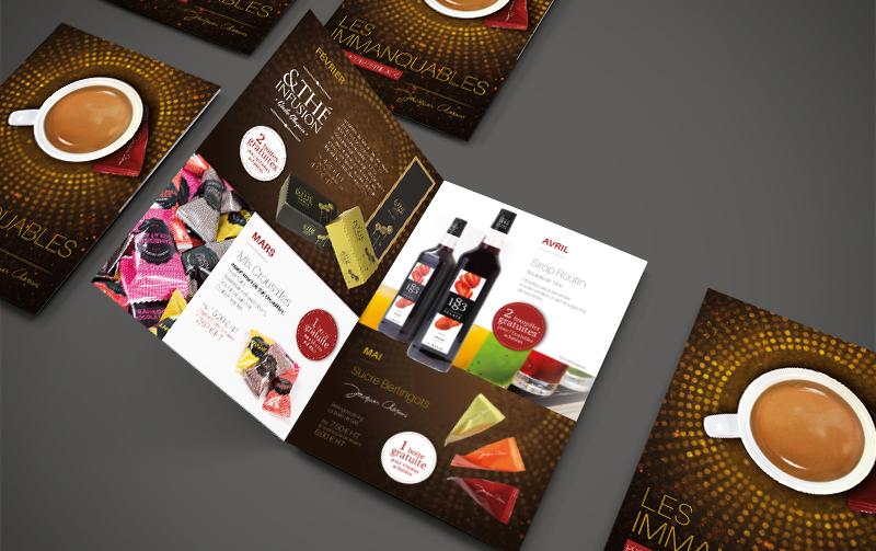 Opération de marketing direct promotionnel b to b pour les cafés Chapuis