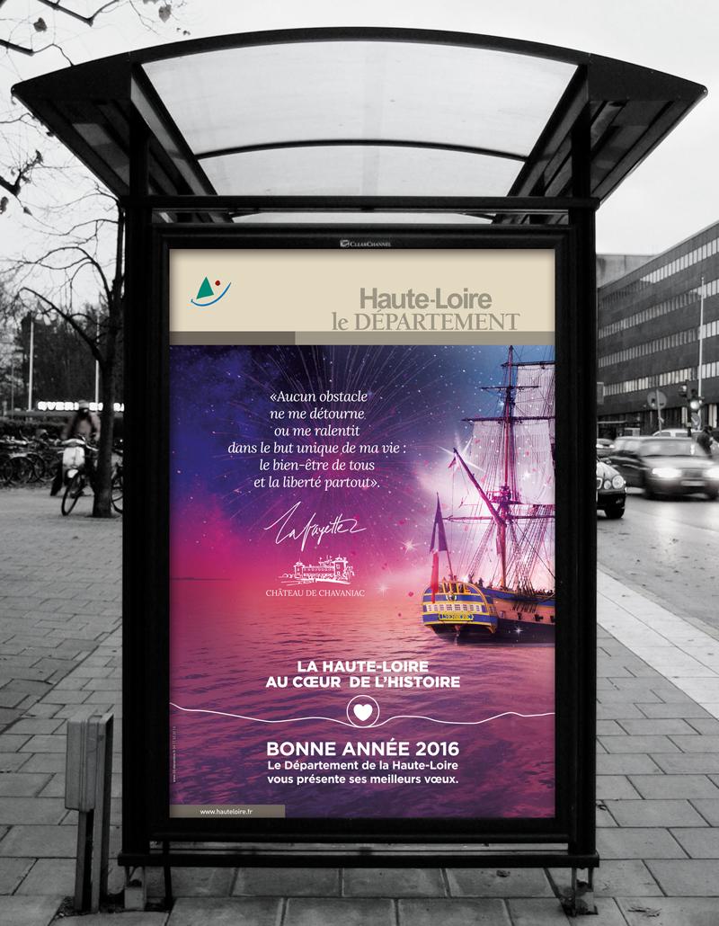 Création de la carte de vœux 2016 du Département de la Haute-Loire