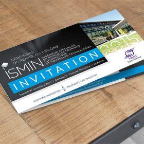 Réalisation d'un carton d'invitation pour l'école des Mines de Saint-Étienne