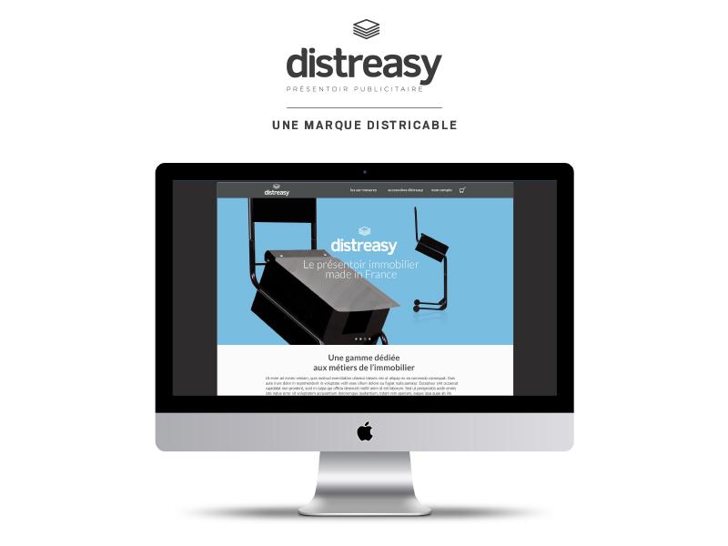 presentoir-publicitaire.fr, nouveau site ecommerce de la marque Distreasy
