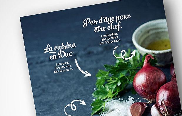 Promotion des cours de cuisine à Saint-Etienne