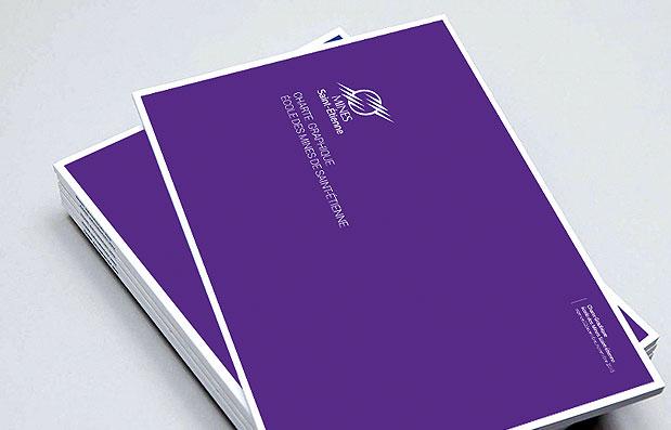 Création de la charte graphique de l'Ecole des Mines de Saint-Etienne.