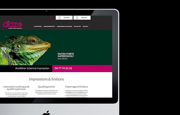 Création du site internet de l'imprimerie Diazorama