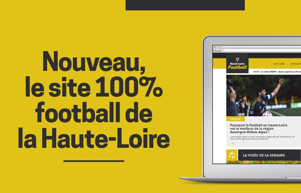 Création du site internet Haute Loire Football.